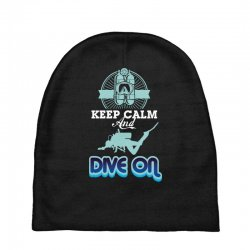 keep calm and dive on Baby Beanies | Artistshot
