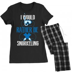 i would rather be snorkeling Women's Pajamas Set | Artistshot