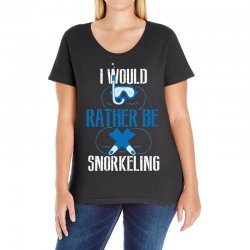 i would rather be snorkeling Ladies Curvy T-Shirt | Artistshot