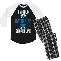i would rather be snorkeling Men's 3/4 Sleeve Pajama Set | Artistshot