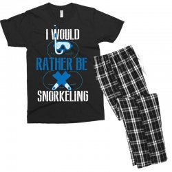 i would rather be snorkeling Men's T-shirt Pajama Set | Artistshot