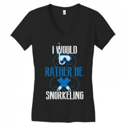 i would rather be snorkeling Women's V-Neck T-Shirt | Artistshot