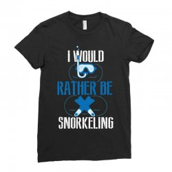 i would rather be snorkeling Ladies Fitted T-Shirt | Artistshot