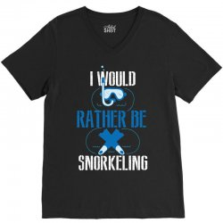 i would rather be snorkeling V-Neck Tee | Artistshot