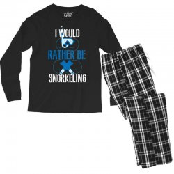 i would rather be snorkeling Men's Long Sleeve Pajama Set | Artistshot