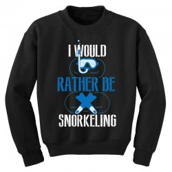 i would rather be snorkeling Youth Sweatshirt | Artistshot