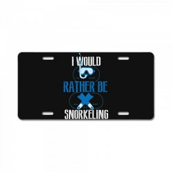 i would rather be snorkeling License Plate | Artistshot