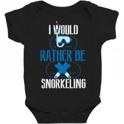 i would rather be snorkeling Baby Bodysuit | Artistshot