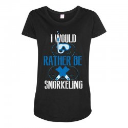i would rather be snorkeling Maternity Scoop Neck T-shirt | Artistshot