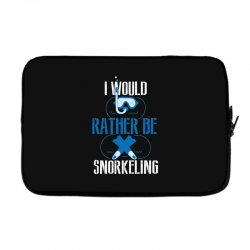 i would rather be snorkeling Laptop sleeve | Artistshot