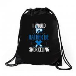 i would rather be snorkeling Drawstring Bags | Artistshot