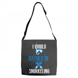 i would rather be snorkeling Adjustable Strap Totes | Artistshot