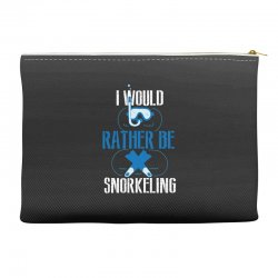 i would rather be snorkeling Accessory Pouches | Artistshot