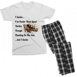 i swim... i am faster than land turtles trough floating in the sea   . Men's T-shirt Pajama Set | Artistshot