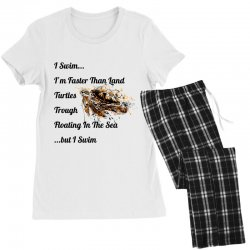 i swim... i am faster than land turtles trough floating in the sea   . Women's Pajamas Set | Artistshot