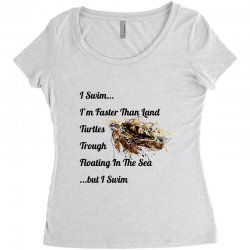 i swim... i am faster than land turtles trough floating in the sea   . Women's Triblend Scoop T-shirt | Artistshot