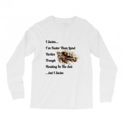 i swim... i am faster than land turtles trough floating in the sea   . Long Sleeve Shirts | Artistshot