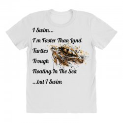 i swim... i am faster than land turtles trough floating in the sea   . All Over Women's T-shirt | Artistshot