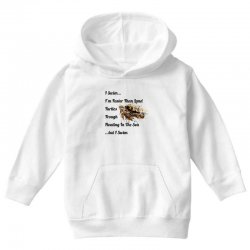 i swim... i am faster than land turtles trough floating in the sea   . Youth Hoodie | Artistshot