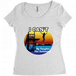 i can't my daughter has swimming Women's Triblend Scoop T-shirt | Artistshot