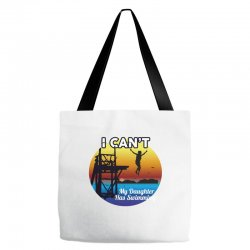 i can't my daughter has swimming Tote Bags | Artistshot
