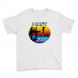 i can't my daughter has swimming Youth Tee | Artistshot