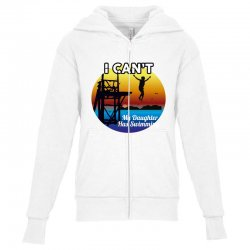 i can't my daughter has swimming Youth Zipper Hoodie | Artistshot