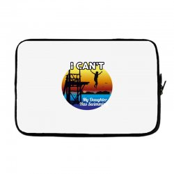 i can't my daughter has swimming Laptop sleeve | Artistshot