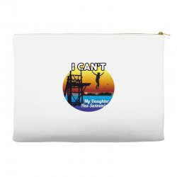i can't my daughter has swimming Accessory Pouches | Artistshot