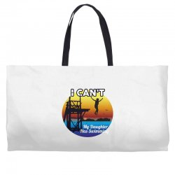 i can't my daughter has swimming Weekender Totes | Artistshot