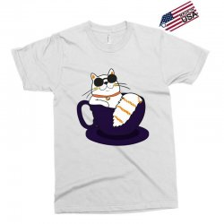 cool cat and coffee Exclusive T-shirt   Artistshot