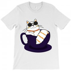 cool cat and coffee T-Shirt   Artistshot