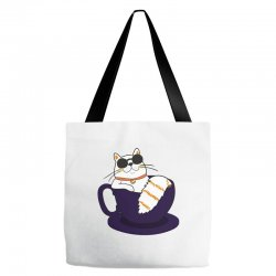 cool cat and coffee Tote Bags   Artistshot