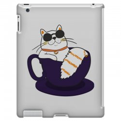 cool cat and coffee iPad 3 and 4 Case   Artistshot