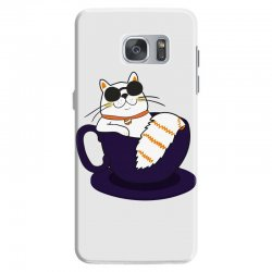 cool cat and coffee Samsung Galaxy S7 Case   Artistshot