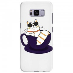 cool cat and coffee Samsung Galaxy S8 Plus Case   Artistshot