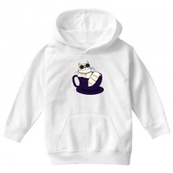 cool cat and coffee Youth Hoodie   Artistshot