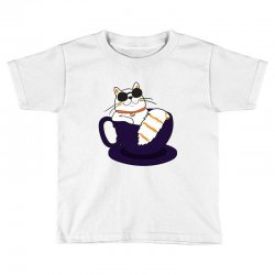 cool cat and coffee Toddler T-shirt   Artistshot