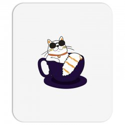 cool cat and coffee Mousepad   Artistshot