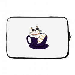 cool cat and coffee Laptop sleeve   Artistshot