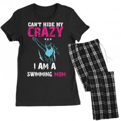 can't hide my crazy i am a swimming mom Women's Pajamas Set   Artistshot