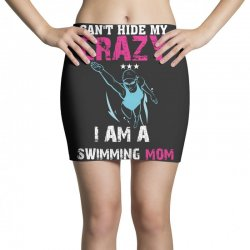 can't hide my crazy i am a swimming mom Mini Skirts   Artistshot