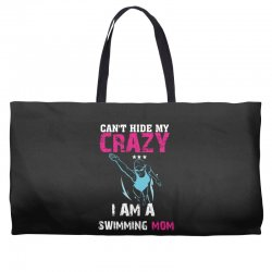 can't hide my crazy i am a swimming mom Weekender Totes   Artistshot