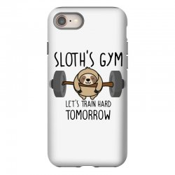 sloth's gym let's train hard tomorrow iPhone 8 Case | Artistshot
