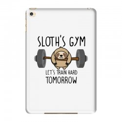sloth's gym let's train hard tomorrow iPad Mini 4 Case | Artistshot