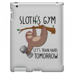sloth's gym let's train hard tomorrow iPad 3 and 4 Case | Artistshot