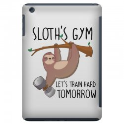 sloth's gym let's train hard tomorrow iPad Mini Case | Artistshot