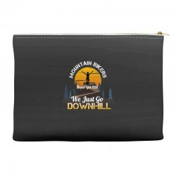 mountain bikers never get old we just go downhill 1 Accessory Pouches | Artistshot
