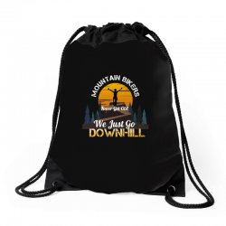 mountain bikers never get old we just go downhill 1 Drawstring Bags | Artistshot