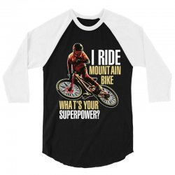 i ride mountain bike 3/4 Sleeve Shirt | Artistshot